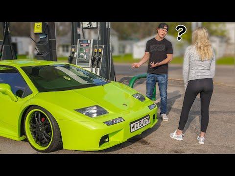 Asking For Gas Money In Fake Lamborghini