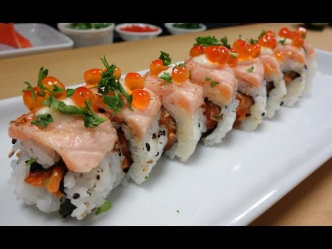 Crazy Salmon Roll - How To Make Sushi Series