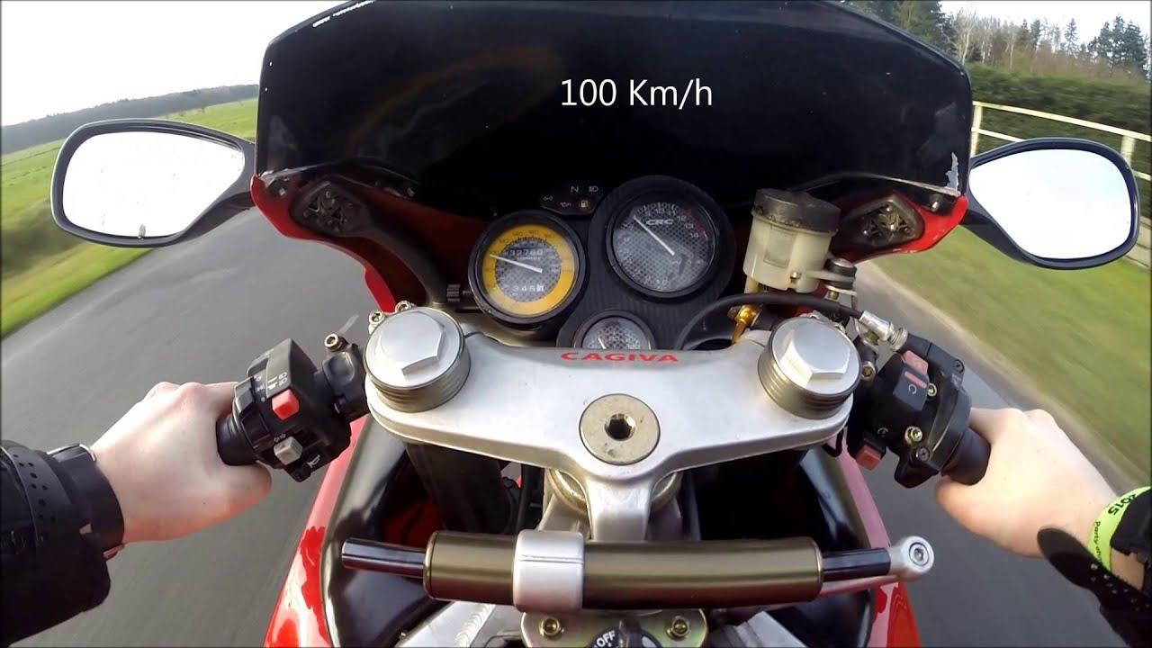 Cagiva Mito 125 0-100 Km/h - YouTube