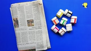 10 Newspaper Craft Ideas - Best Out Of Waste Newspaper - Waste Material Newspaper