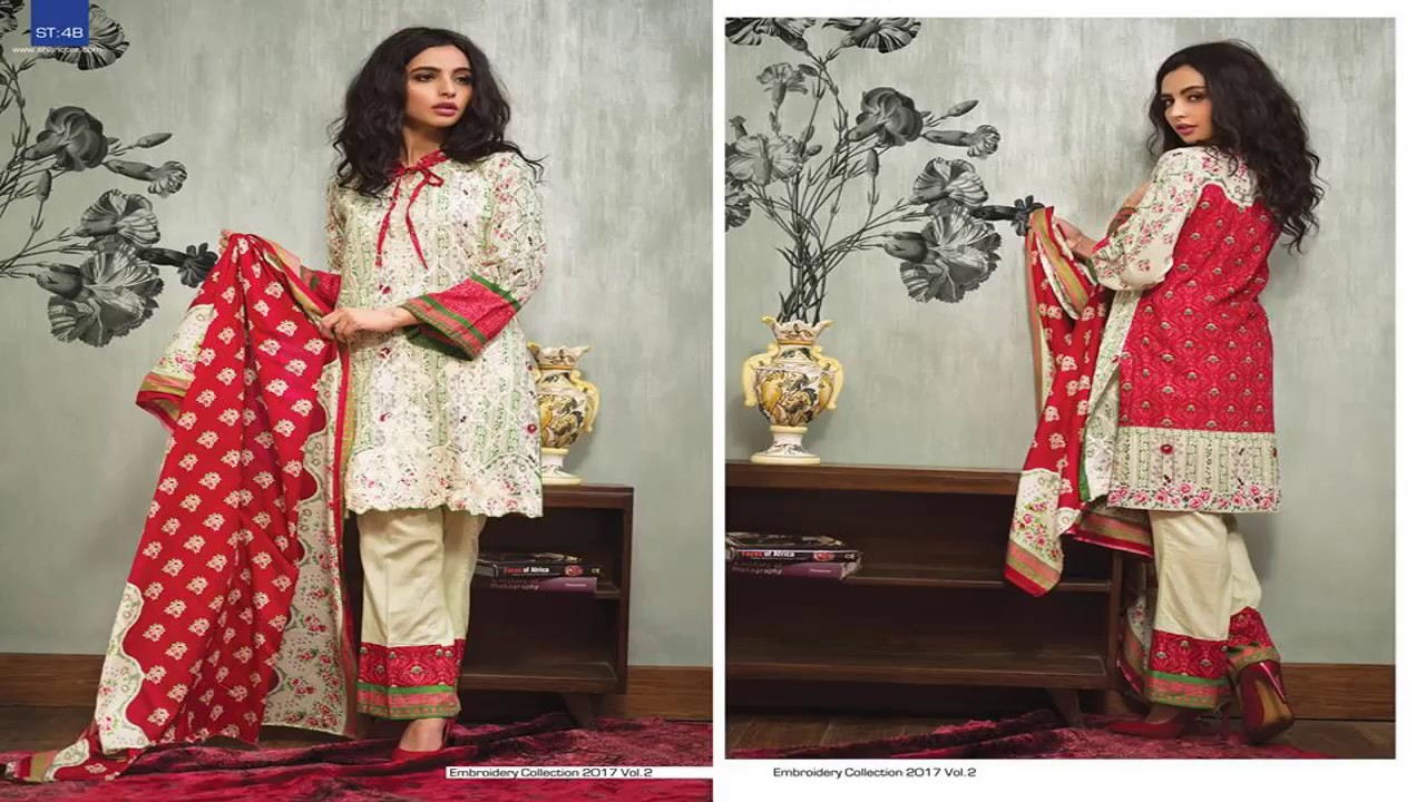 0447596220 Latest Shariq Textiles Libas Embroidered Dresses Collection - YouTube