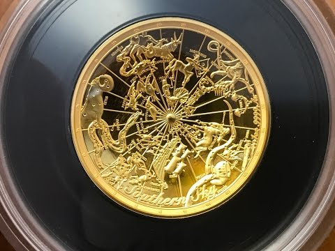 Australia 2017 Southern Sky - Celestial Dome 1 Oz Gold Proof Coin - Royal Australian Mint