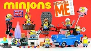 Mega Bloks Minions Motor Mischief Chair-O-Matic Mailroom Mania Copy Chaos & Jelly Jiggle