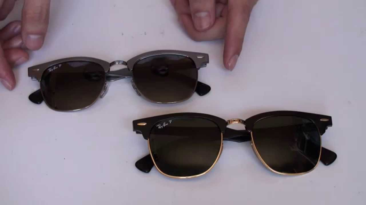 all black ray ban clubmaster  Overview of both Ray-Ban Clubmasters Aluminium/Aluminum Sunglasses ...