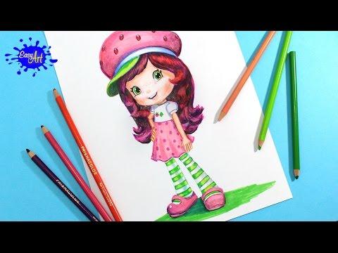 How To Draw Strawberry Shortcake L Como Dibujar A Rosita Fresita
