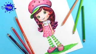 How to draw Strawberry Shortcake l Como dibujar a Rosita fresita