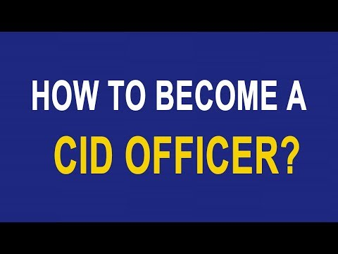 How to become a CID Officer?
