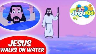 Best Bible stories for kids   Jesus Walks On Water   Animation   Preschool   Kids   Kindergarten