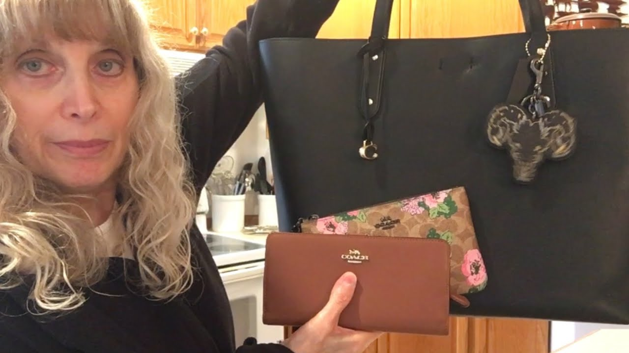 COACH SUMMER SALE:  Skinny Wallet, Signature Blossom Wristlet & Central Tote 39-EPILOGUE AT THE END