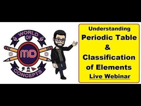 Understanding Periodic Table & classification of Elements | Prof. Mithyl Dave | Live Webinar