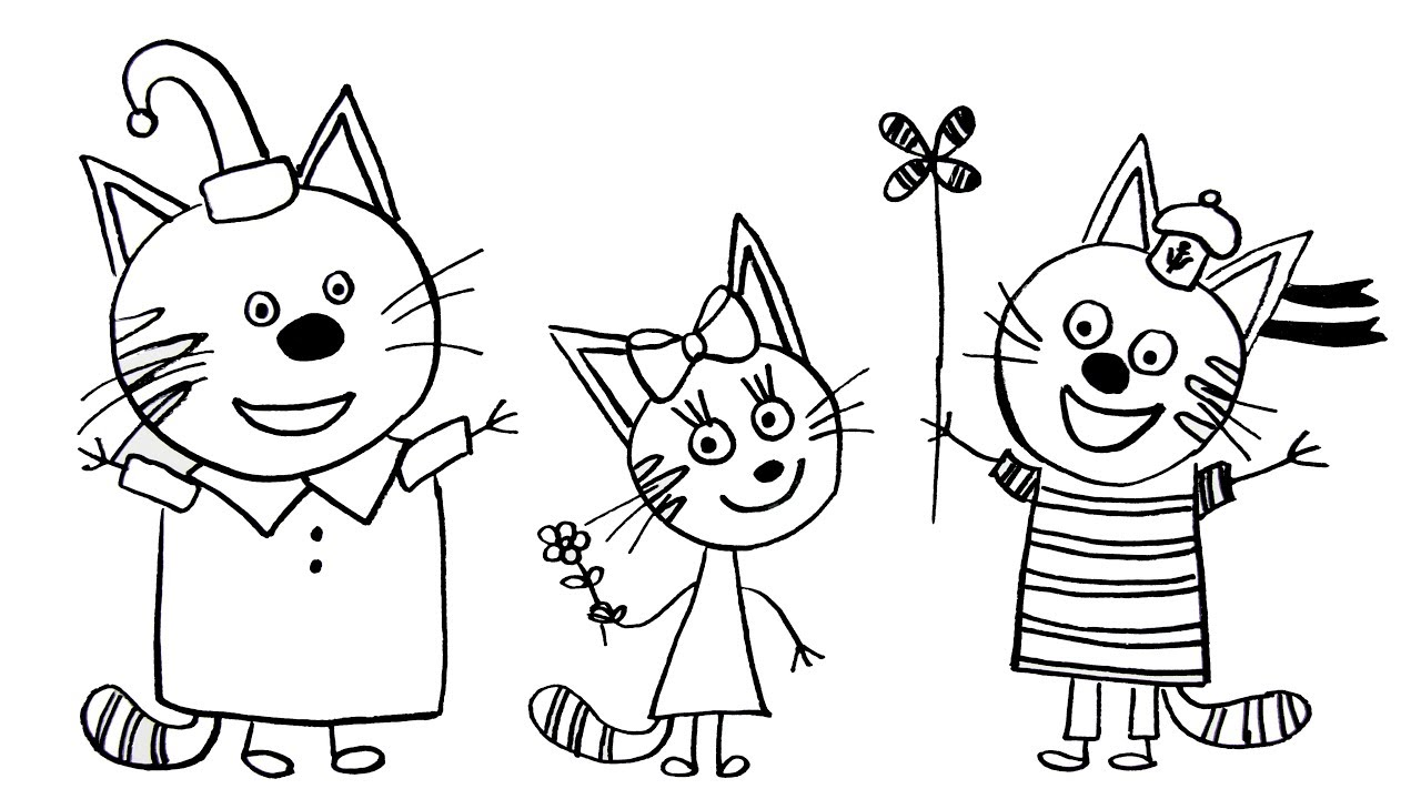 How to Draw a Cat Coloring Pages Kids-e-Cats Coloring Book
