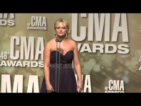 Miranda Lambert - 2012 CMA Awards - Interview