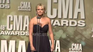 Miranda Lambert - 2012 CMA Awards - Interview