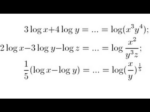 Using the properties of logarithms: multiple steps