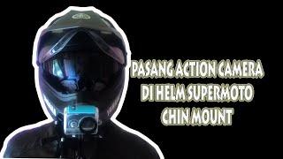 Cara Pasang Action Camera Di Depan (chin mount) Helm Supermoto Motocross Yamaha MTX Gear#1