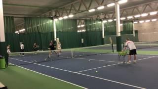 Andy Hill Cardio Tennis Intercept 2 ball volley drill
