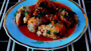 Щука в томатном соусе, нежная и вкусная.