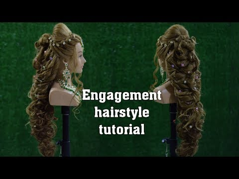 easy-engagement-hairstyle-tutorial-video-in-hindi-||-best-wedding-hairstyle-2019-||-patel-hairstyle