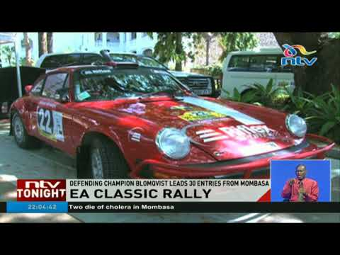 Defending champions Blomqvist leads in the East Africa Classic rally