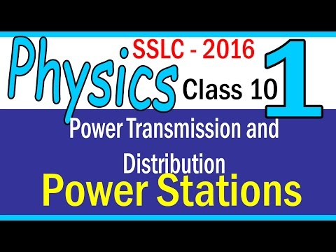 PHYSICS| PART 1 - CHAPTER 4 -Power generation|Power Stations | 2016 | | CLASS 10 KERALA