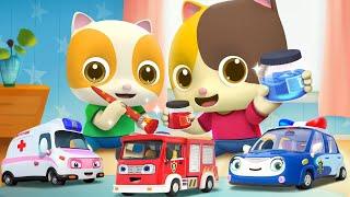 和消防車、救護車學顏色 | 2020學顏色兒歌童謠 | 卡通 | 動畫 | 寶寶巴士 | BabyBus