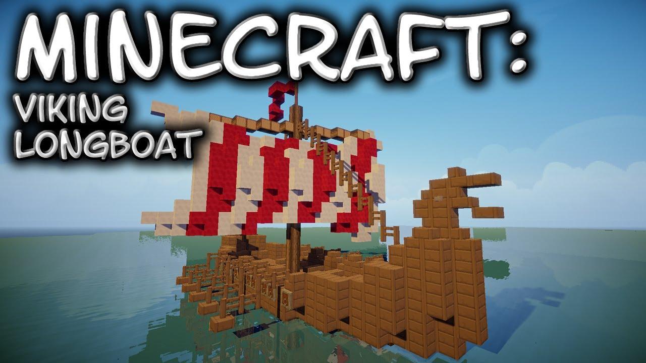 Minecraft: Viking Longboat Tutorial - YouTube