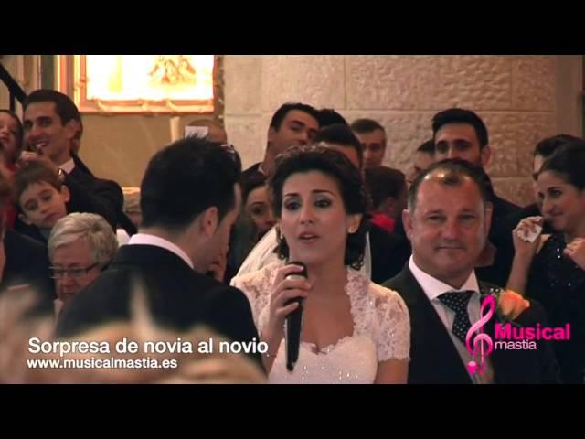 Sorpresa de novia al novio le canta Hasta mi final iL Divo BODA MORATALLA Musical Mastia Wedding