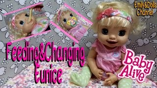 Feeding 2007 Learns To Potty Doll Eunice Gerber Cereal & Changing (Collab with Aloha Baby Alive)