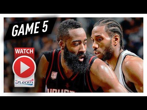 James Harden vs Kawhi Leonard Game 5 MVP Duel Highlights (2017 Playoffs WCSF) Spurs vs Rockets