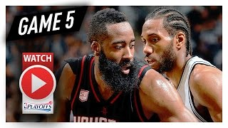 James Harden vs Kawhi Leonard Game 5 MVP Duel Highlights (2017 Playoffs WCSF) Spurs vs Rockets