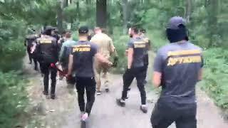 Представники Нацдружини зачищають табір ромів у Голосіївському парку - відео Kyiv LIVE