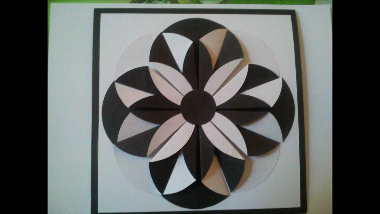 tuto carte fleur noir et blanc flower card youtube. Black Bedroom Furniture Sets. Home Design Ideas