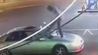 Tennessee Woman Says Stranger Kicked Her Car's Windshield After She Rejected Him