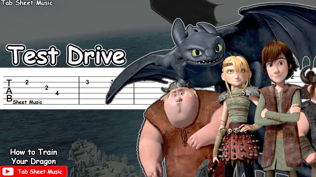 Test Drive - How To Train Your Dragon Guitar Tutorial