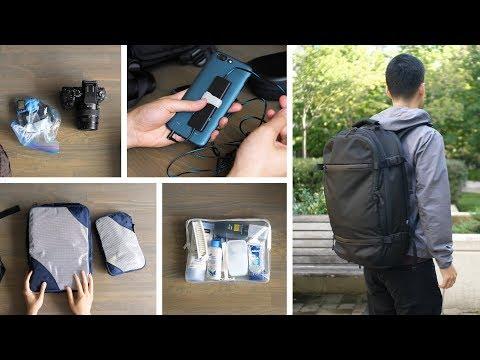 My Minimal Travel Backpack Setup
