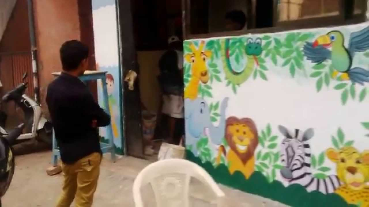 Preschool Outside Wall Theme Painting Mumbai India