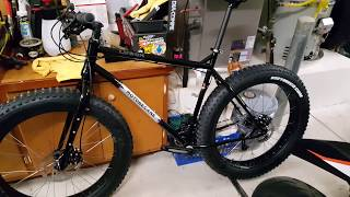 Motobecane Lurch Fat Bike, fresh out of the box