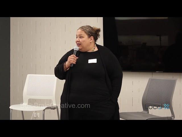 Sandee Kastrul speaks at LocalX