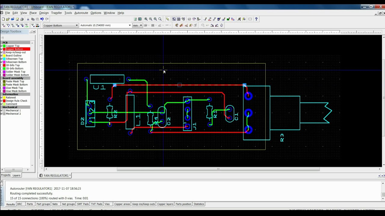 How To Set Single Sided Pcb Layer In Multisim Software Youtube