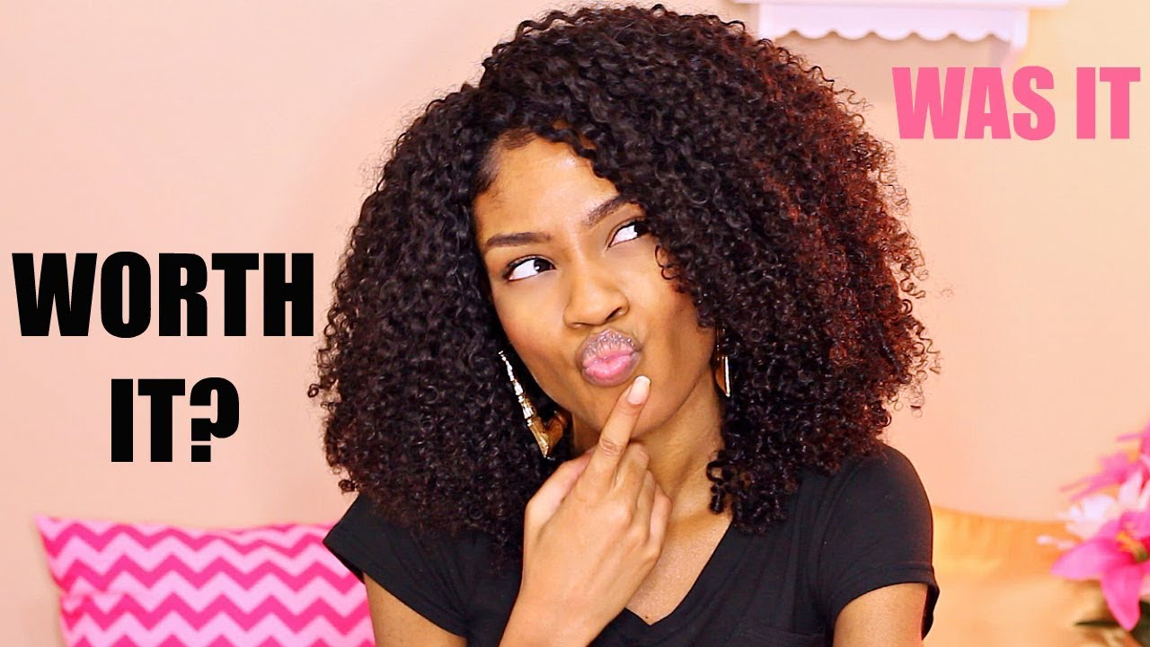 Curly Quick Weave On Natural Hair Review Flip Over Method Youtube