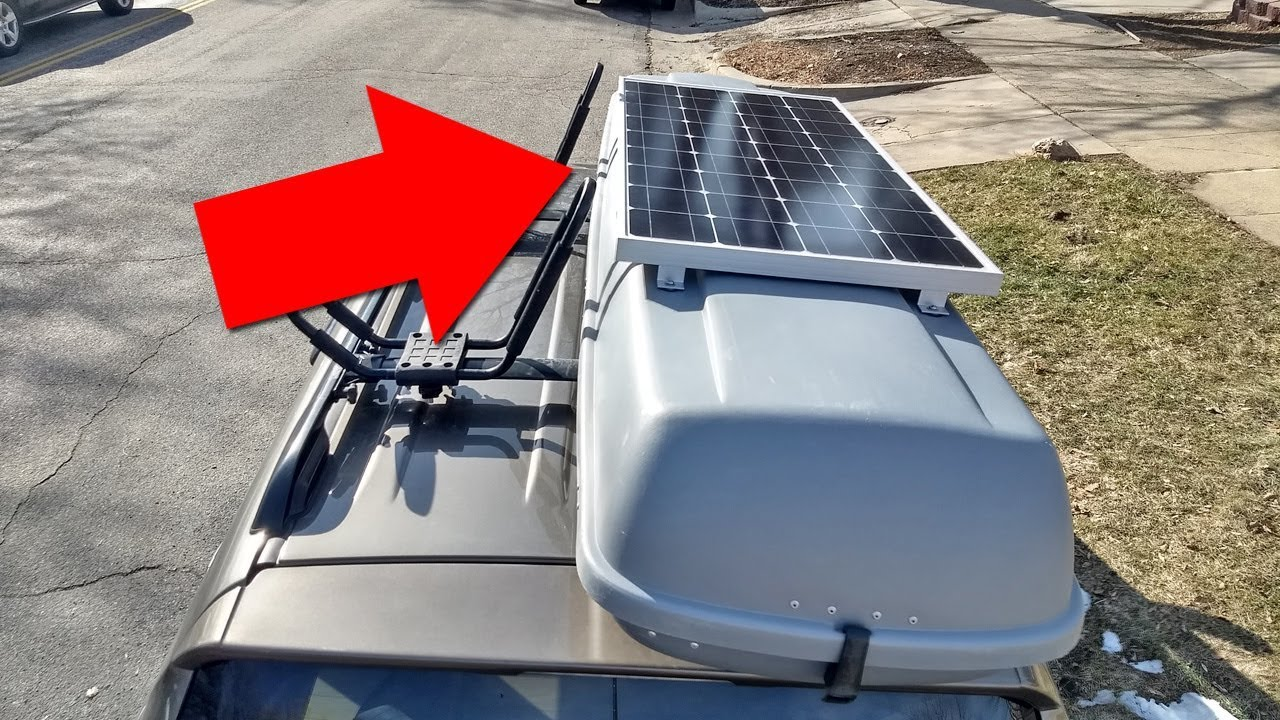Mounting A Solar Panel To A Car S Rooftop Cargo Box For