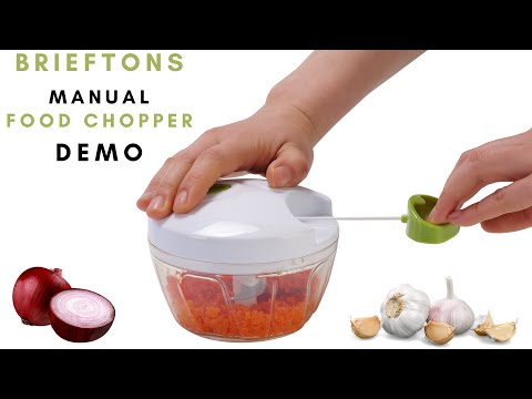 Brieftons Food Chopper: Manual Vegetable Chopper Demo