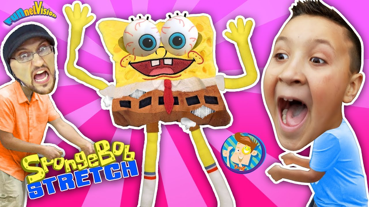 Download Annoying Spongebob Squarepants Toy Stretch Test! FUNnel Fam Stretchkins Dance Plushies
