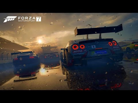 FORZA MOTORSPORT 7  - NISSAN NISMO GT-R LM GT3 NA CHUVA  Nurburgring PC DEMO GAMEPLAY HD 720p 60fps