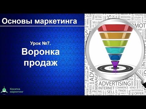 Воронка продаж. Основы маркетинга. Урок 7. Как посчитать конверсию воронки продаж
