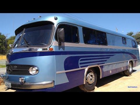 MOTORHOME RESTAURADO PELA TOUR LIFE - Mercedes Benz 1960 (1111 OM 321), Atual MB 1621.