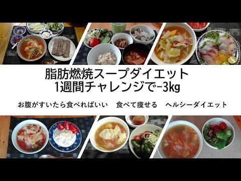 脂肪燃焼スープ 1週間チャレンジで-3.4㎏