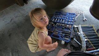 Дети дальнобойщиков. Как живут, и с чем играют? #24 19г. ремонт с дочкой.