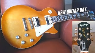 UNBOXING AND PLAYING MY NEW GUITAR! 2020 EPIPHONE LES PAUL CLASSIC HONEYBURST