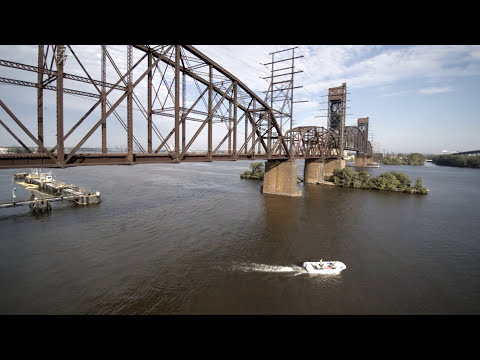 122 Year-Old Railroad Train Bridge - Aerial Footage | Dragonfly Drone Services | Philadelphia, PA